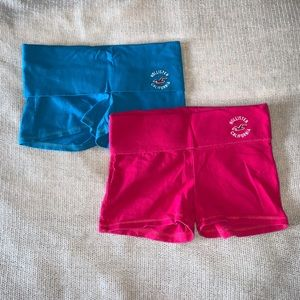 2 PACK HOLLISTER YOGA SHORTS